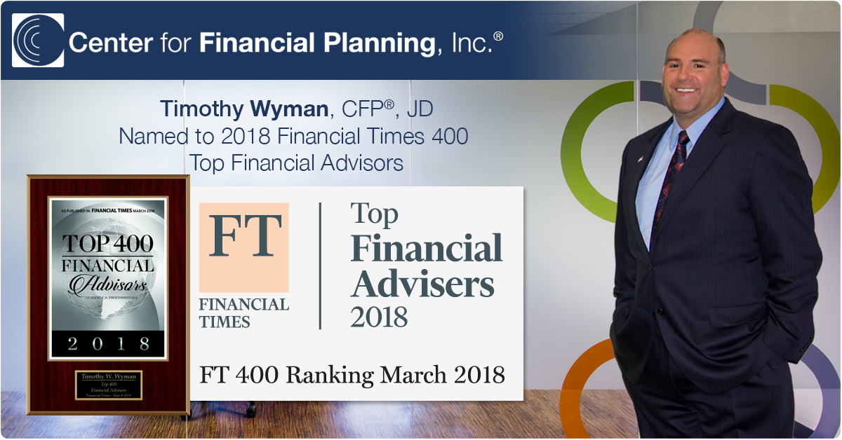 Timothy Wyman Financial Times Top Financial Advisers 2018 FT400 Ranking March 2018