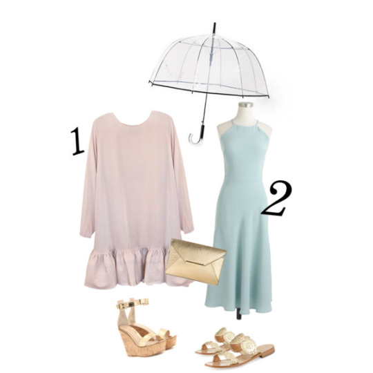 1. Cynthia Rowley Dress & Gianvito Rossi wedges | 2. J.Crew Dress & Jack Rogers sandals