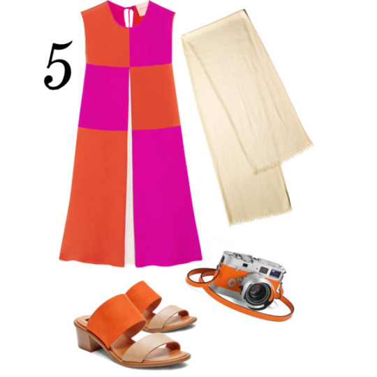 5. Roksanda Farren dress & Steve Madden slides