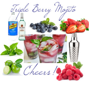 triple berry mojito | handley breaux designs | fourth of july