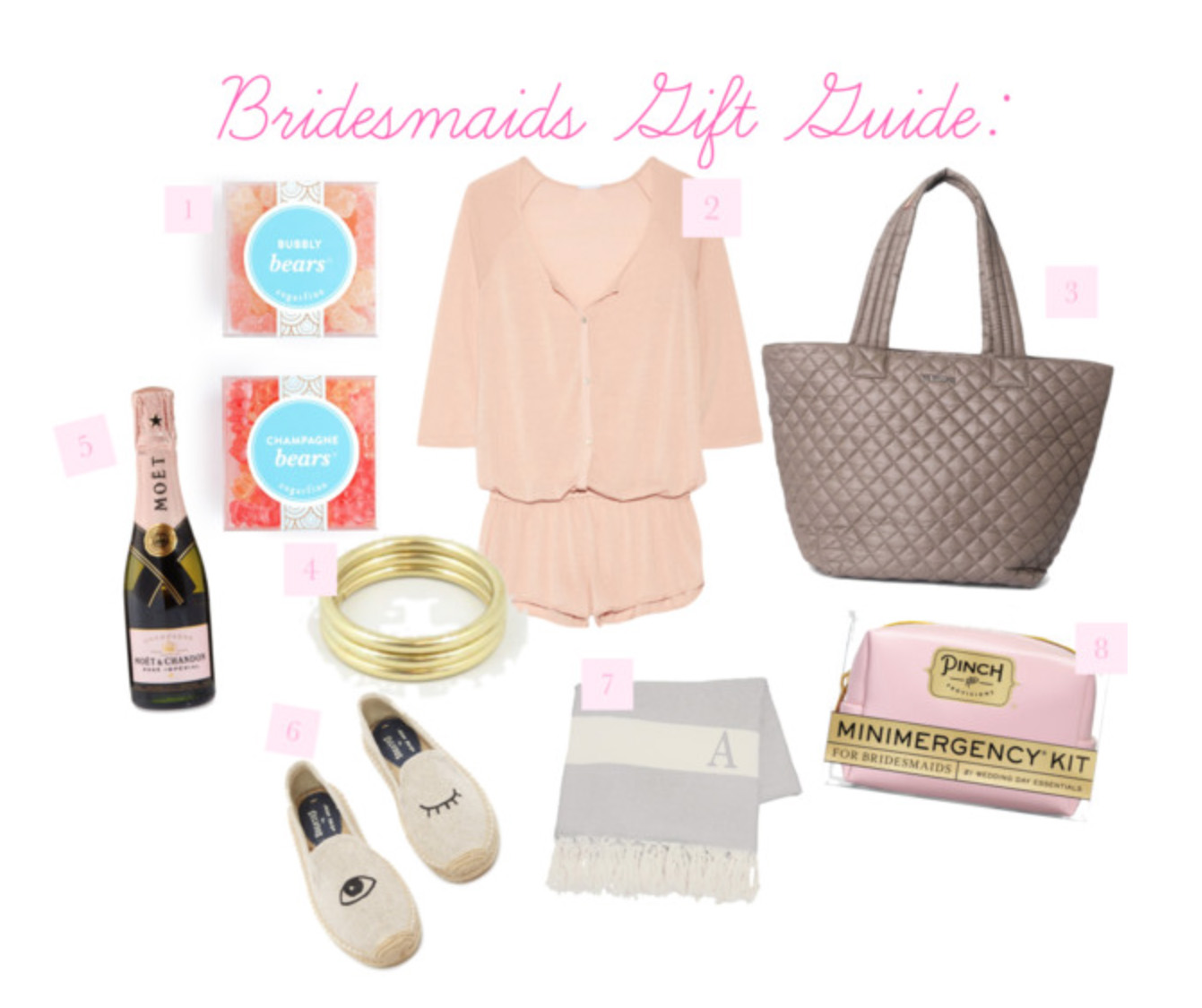 Handley-Breaux-Designs | Birmingham-Wedding-Planner | Bridesmaids-Gift-Guide