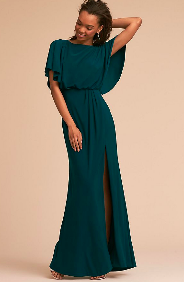 Anthropologie killed it with  this dress ! From the sleeves to the slit, we are loving the details.