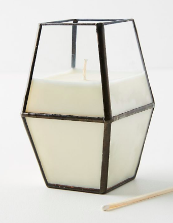 This  candle  from Anthropologie is the best because 1) it smells INCREDIBLE 2) it is beautiful and 3) it's under $35!