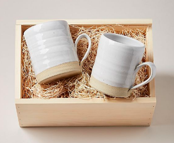 We love  these  coffee mugs because they go with any style kitchenware!