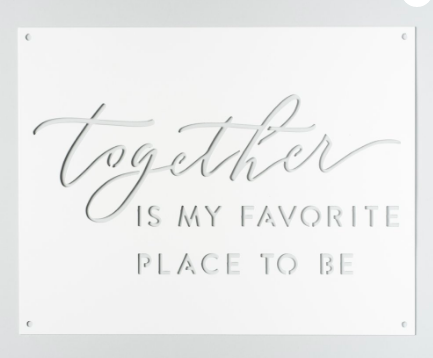 This  sign  from Magnolia Market would be the sweetest addition to the bride & groom's first home.