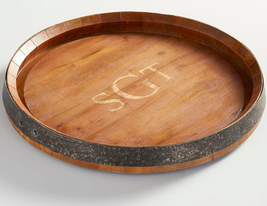 This  personalized lazy Susan  would be the perfect addition to the bride & groom's first kitchen.