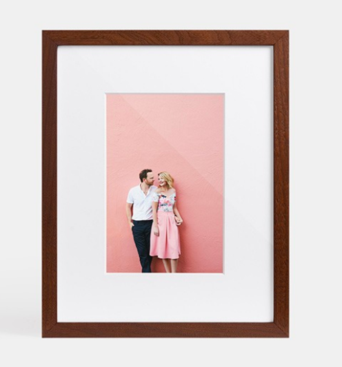 Since wedding season is so busy for many brides, they forget to print their engagement pictures! Gift them a  framed picture  for their home.