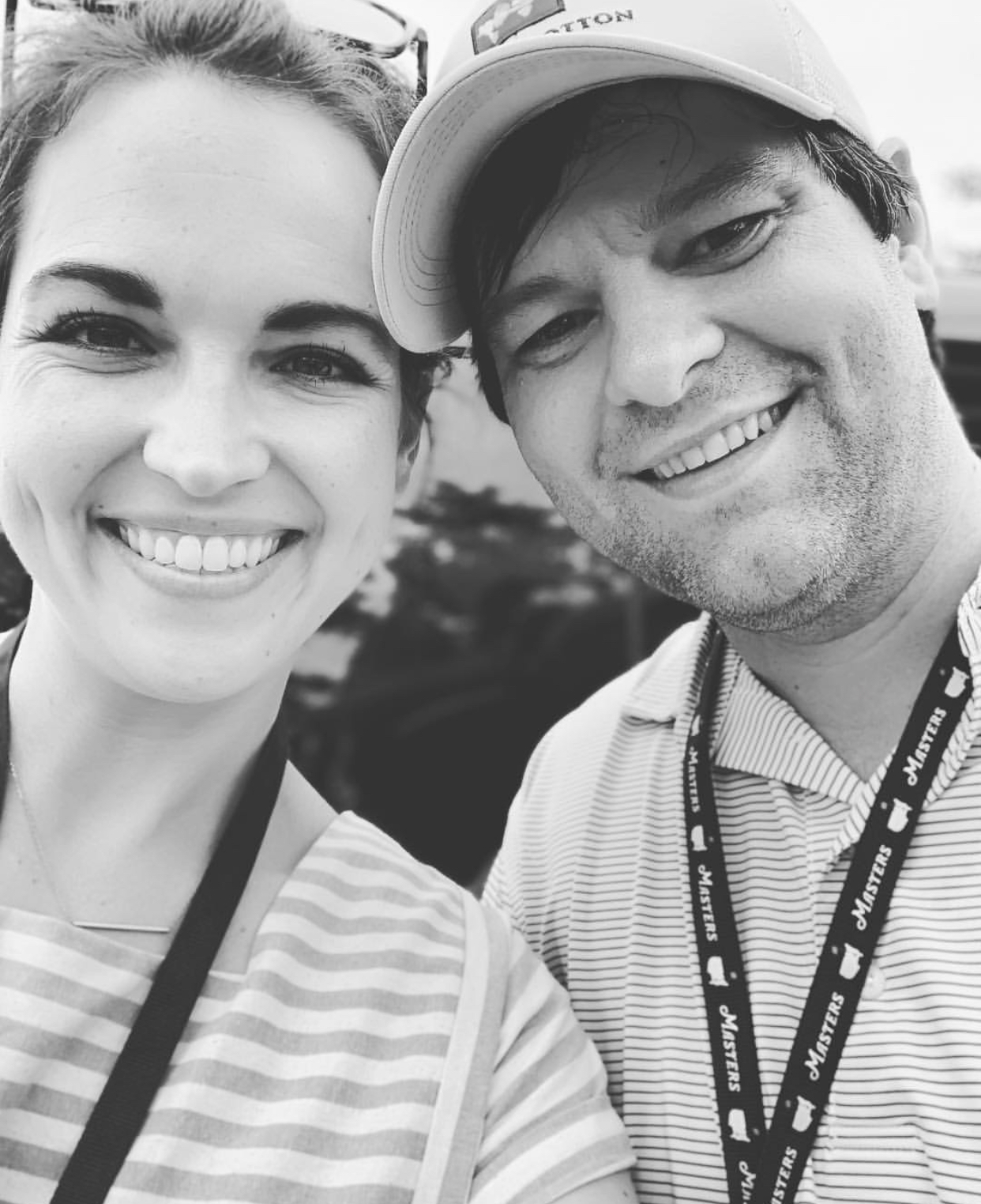 Clay & her Hubby at The Masters