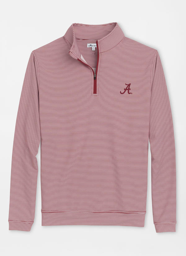 Peter Millar Collegiate Perth Mini-Stripe Performance Quarter-Zip     There's nothing like getting your dad ready for football season. This collegiate pullover will get him ready for Saturday's in the fall!