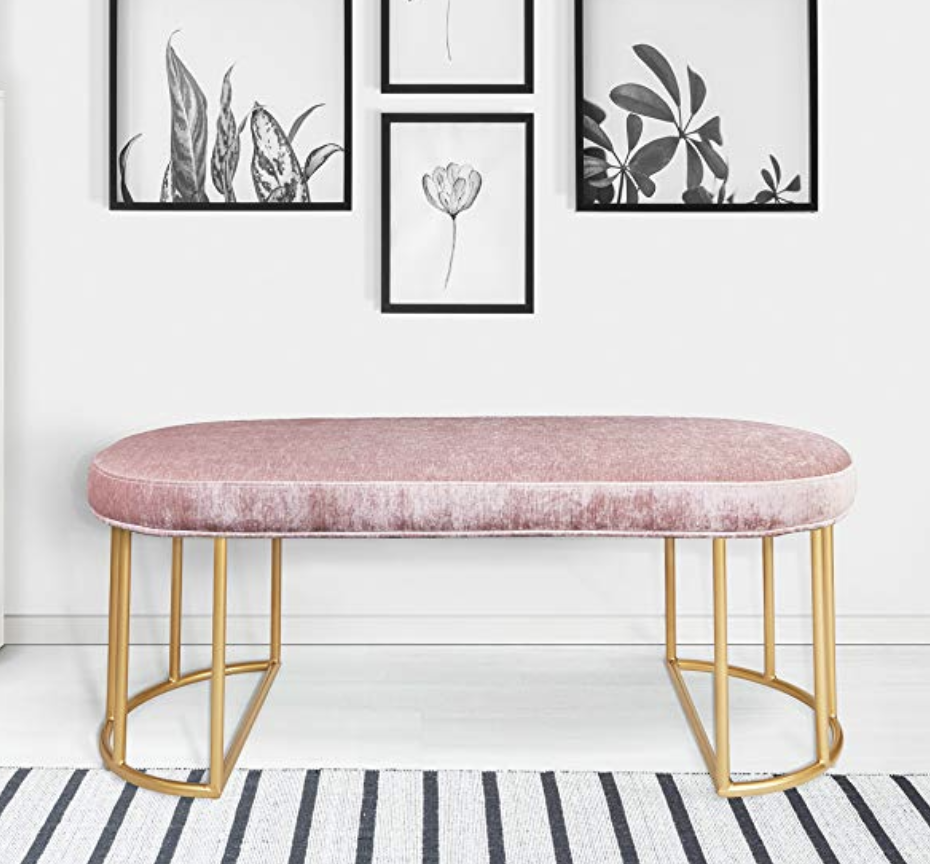 Having so many meetings in the office lately made us realize we needed to upgrade our seating options! We found this awesome  pink bench  on Amazon, and it has been such a great addition to our office and gives a fun POP of color! If you happen to be looking for an accent piece for your next home, look no further!