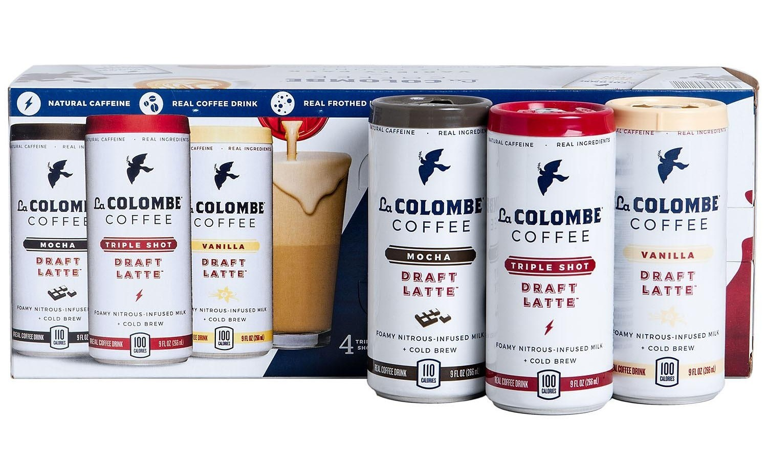 This crazy summer heat has definitely put a damper on our typical hot cup of morning coffee! Thank goodness for the  La Colombe  draft lattes. These little cans are loaded with caffeine and so easy to drink on the go!