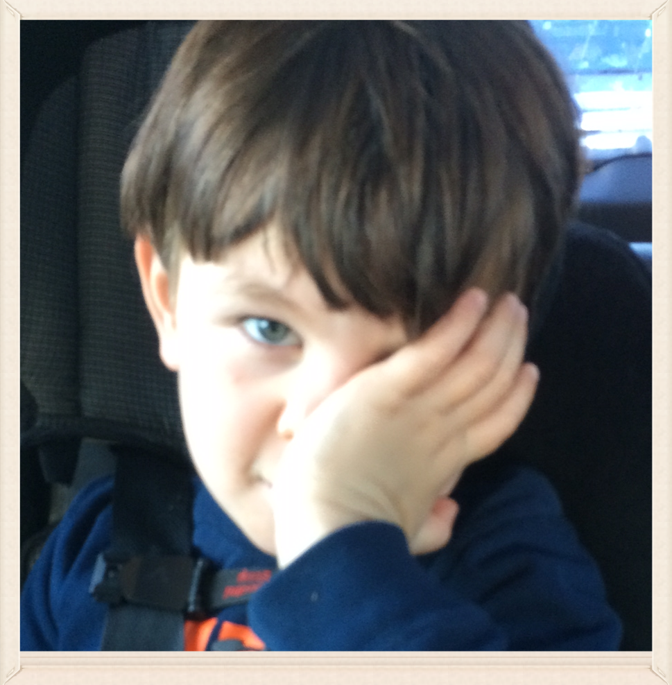 "This is Darus after I told him, ""we are on the way to see a new doctor at UCLA!"""