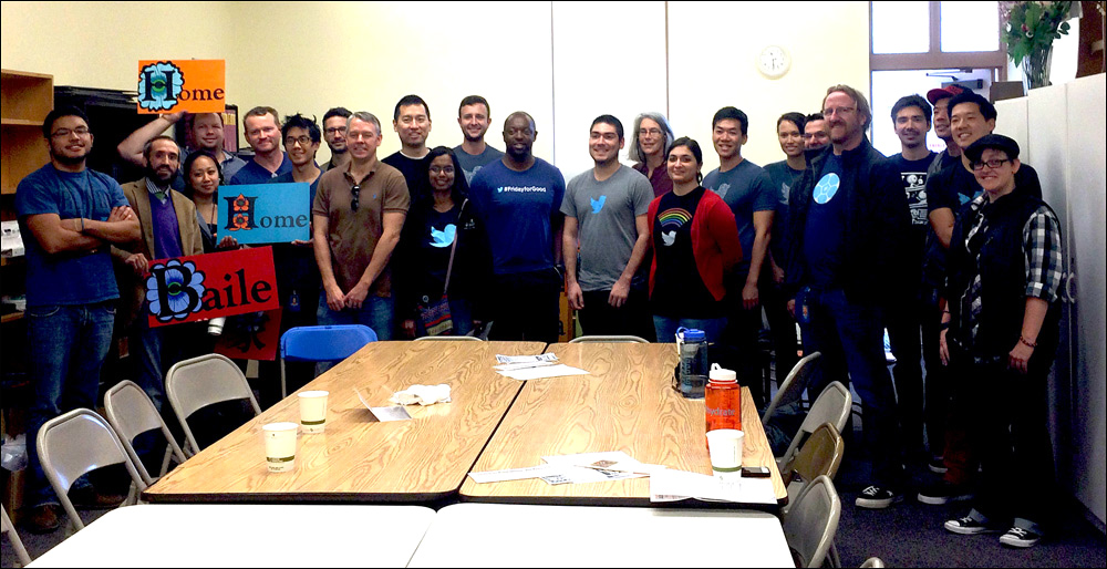 Event at Gubbio Project with Twitter Employees during #FridayForGood