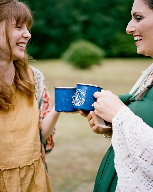Fresh film scans back from Katie + Eoin's wedding 😍 Loved these custom camp mugs they had made up for favors 🏕🙌🏻
