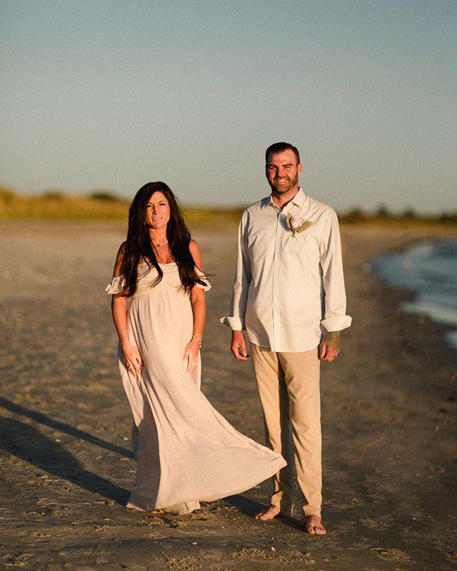 Gorgeous sunset elopement in Newport last night 🌾 Jen + Adam