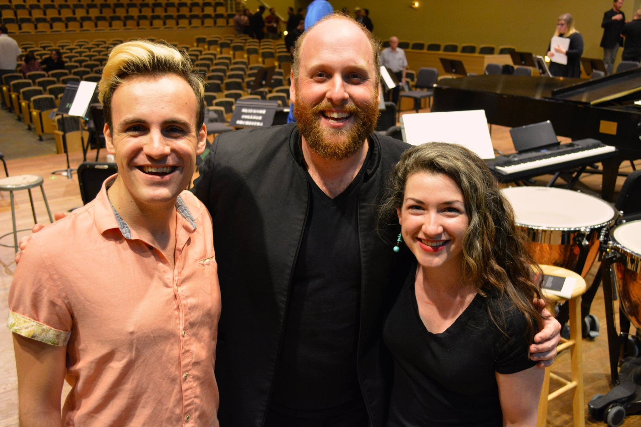 Conducting participants Austin Philemon and Shannon Murphy with Christopher Rountree