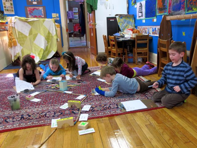"""The children collectively (and individually) draw maps. While they draw, there is a steady stream of conversation. They trade ideas and memories. They tell the story of the journey even as they draw the elements on paper. This is how rich the opportunity for """"The Look Twice"""" is!"""