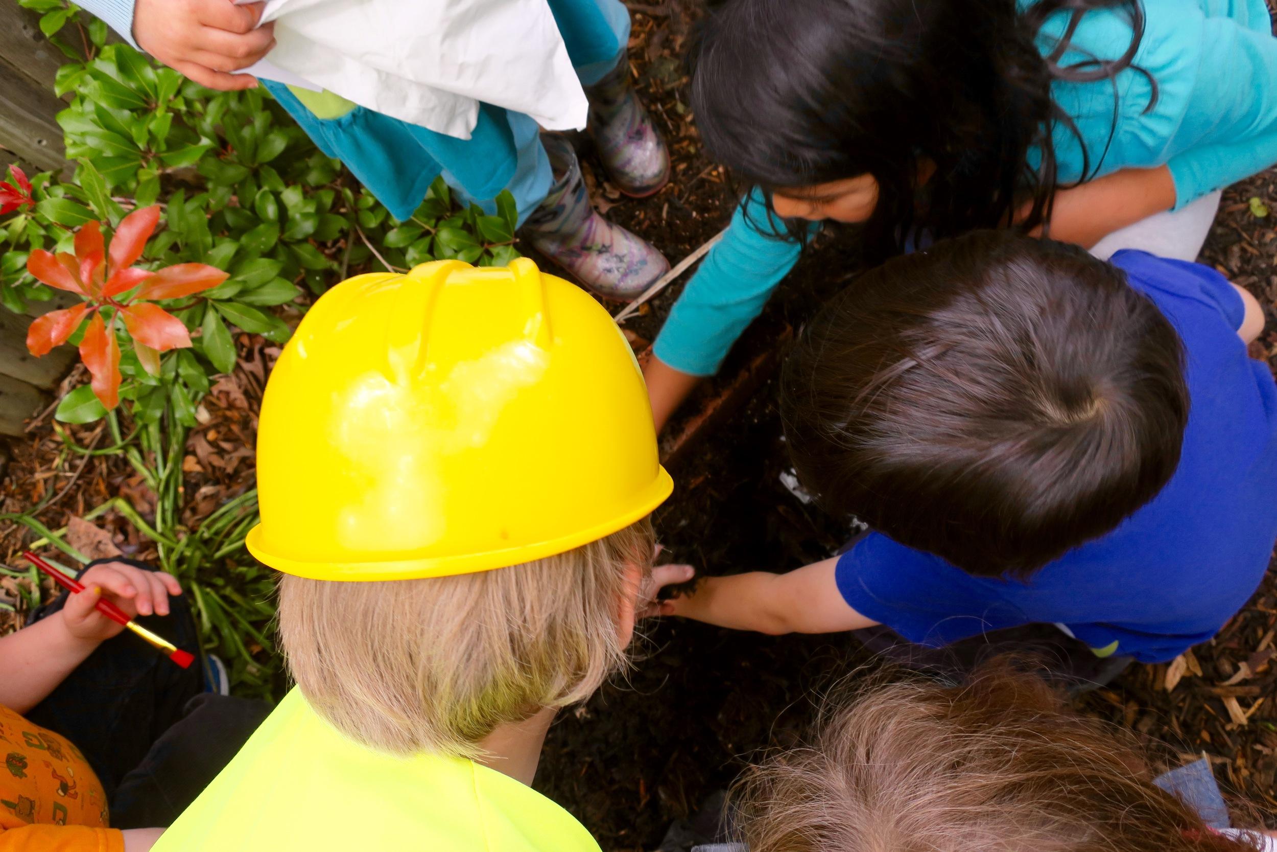 The children bury the shrew.