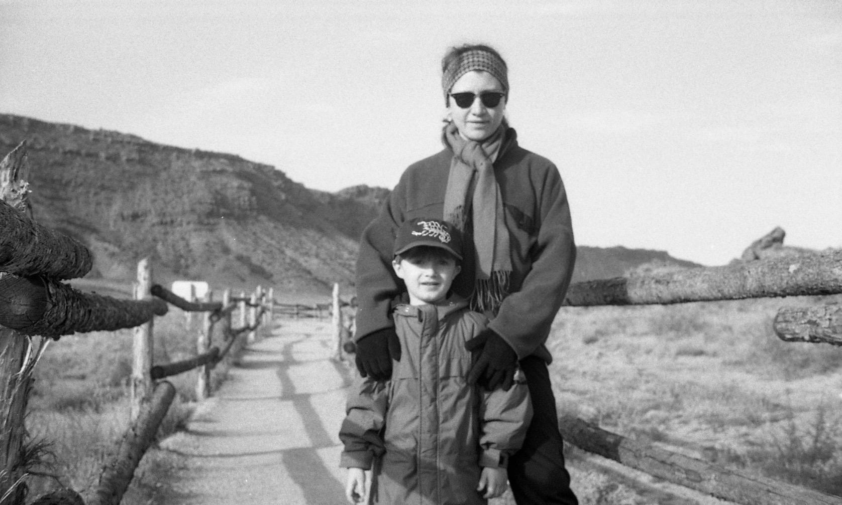 On vacation in Utah, 2000