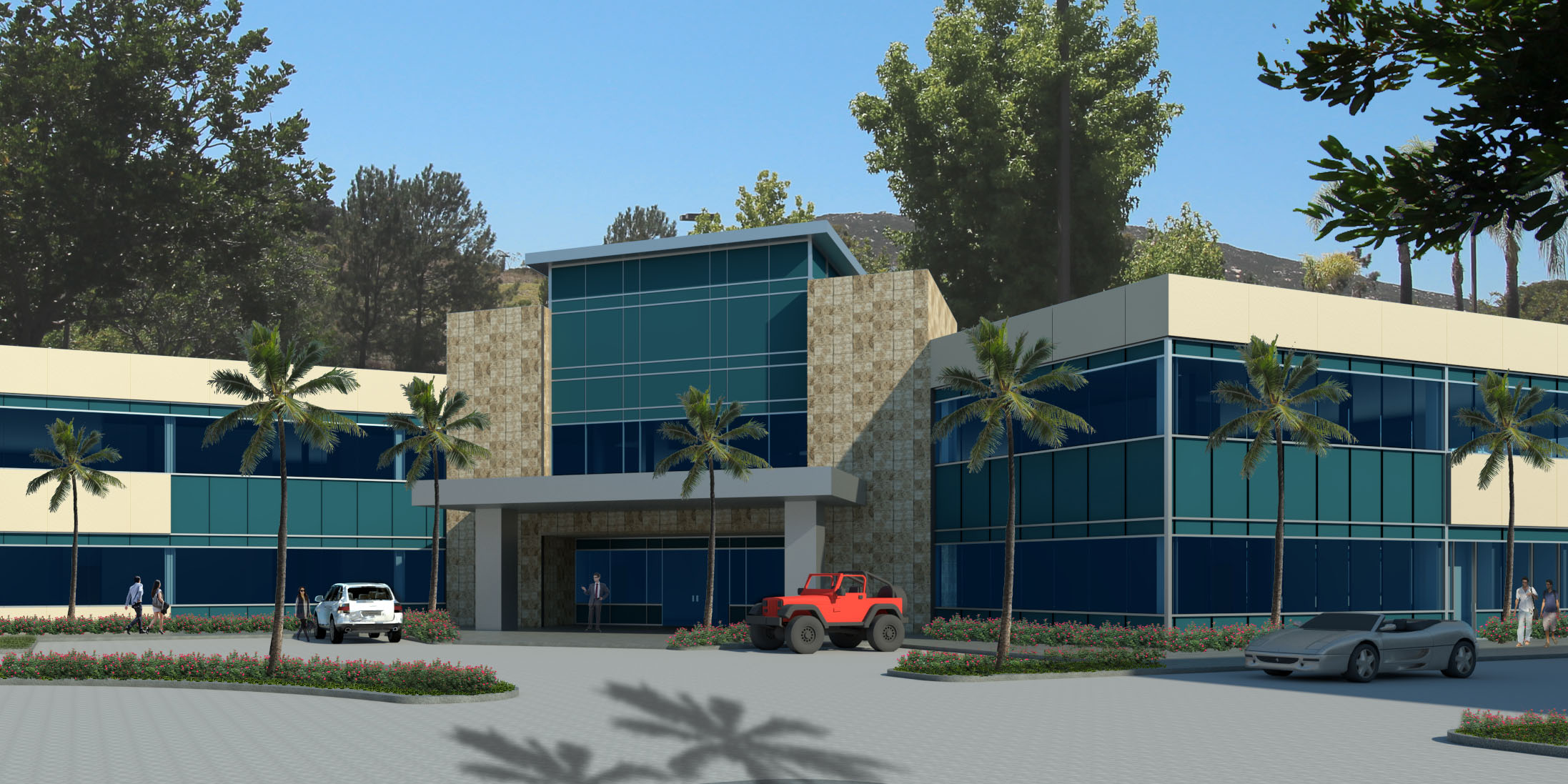 New 2-story office building.