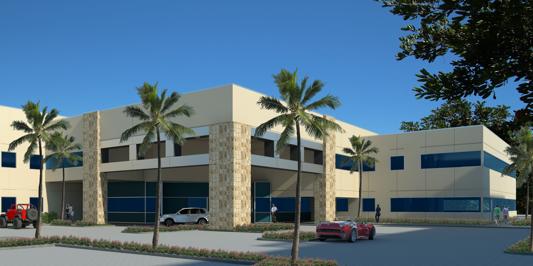 Existing office building with some modifications.