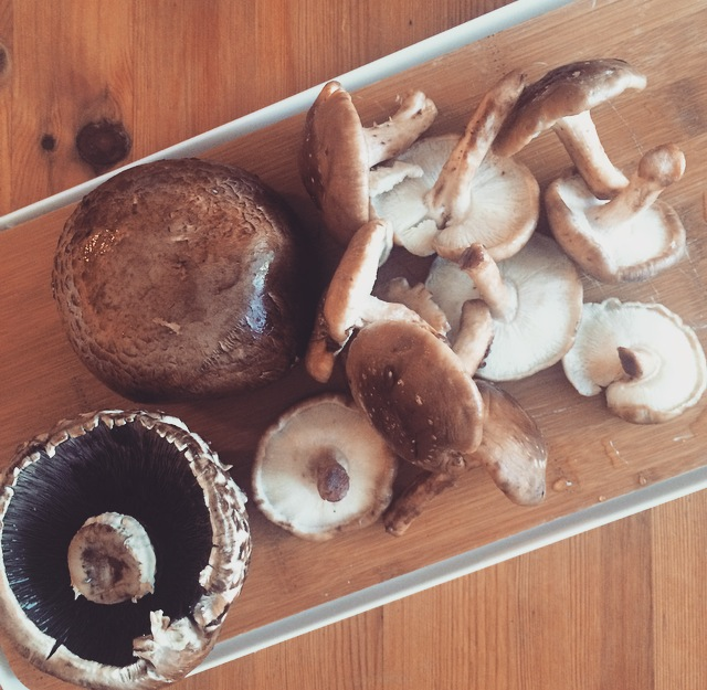 cremini and portobello mushrooms