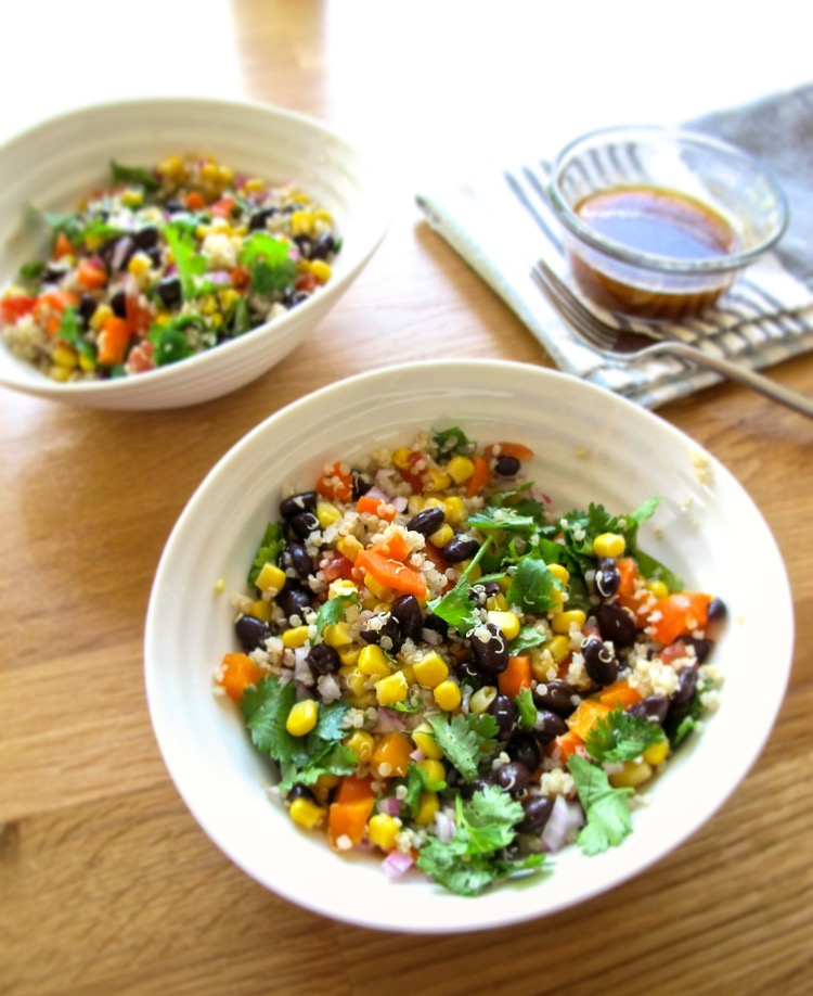 spicy mexican quinoa salad