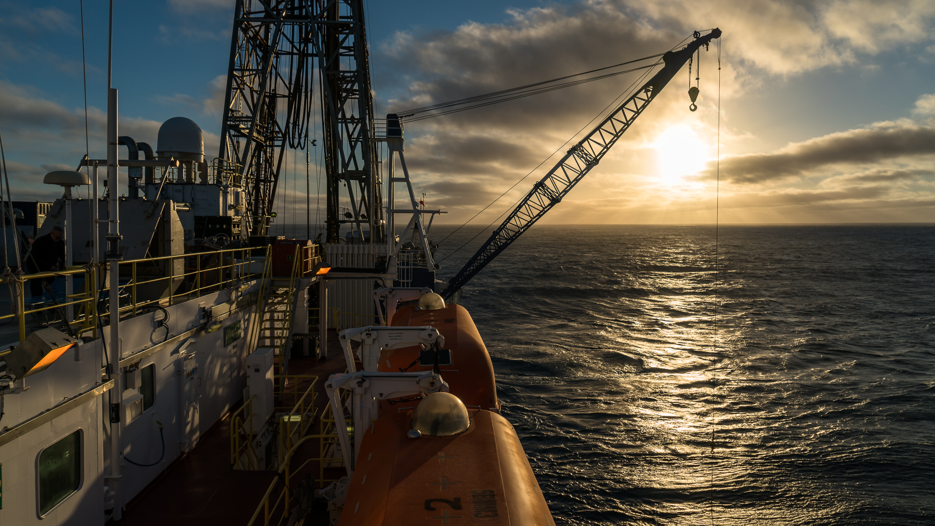 Each expedition continues 24 hours a day with scientists and crew working 12 hour shift cycles.
