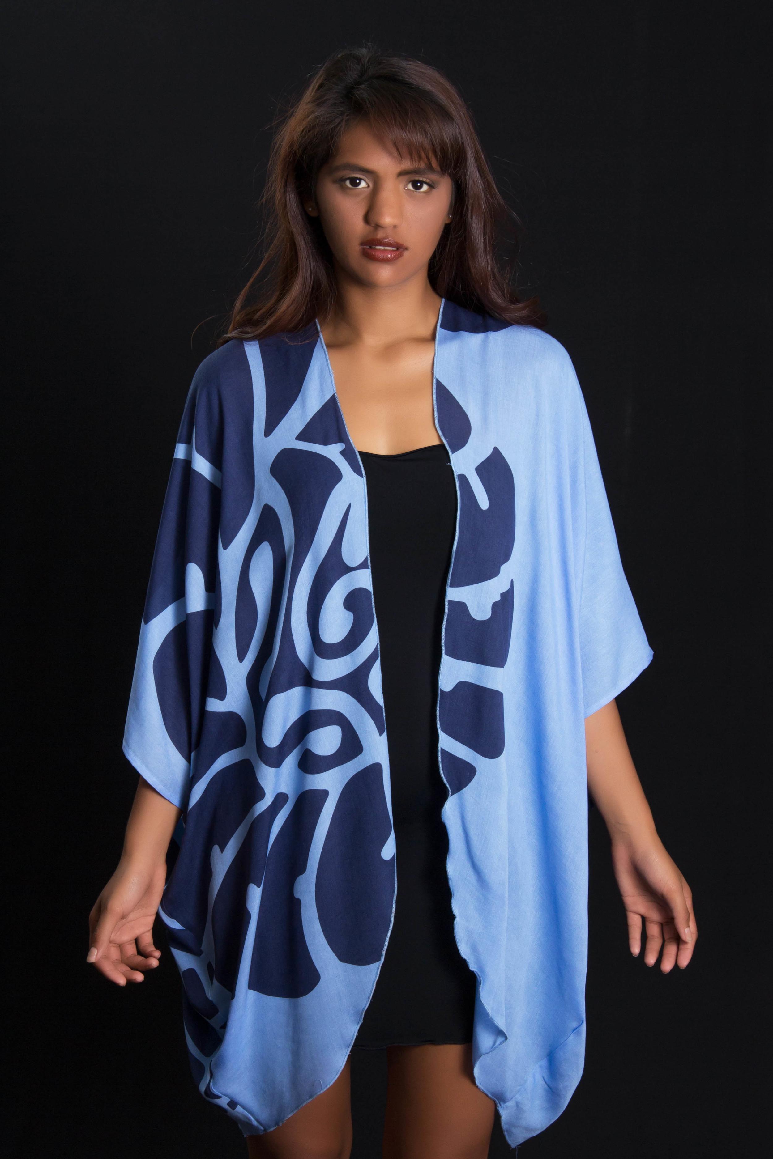KZHAWAII-Blue Long Cover Up Front.jpg