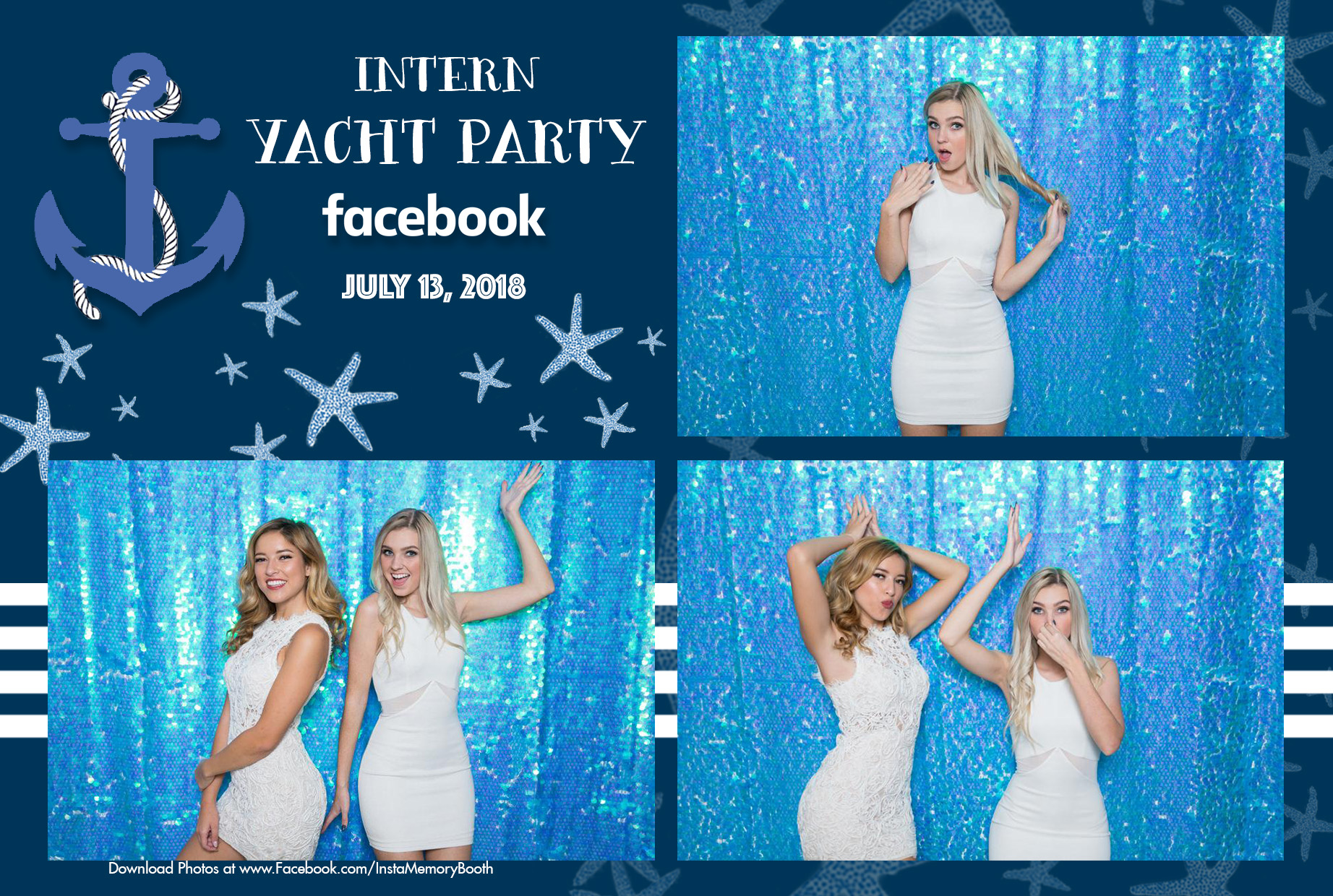 Unicorn Backdrop with 4x6 custom photo booth strip in NYC
