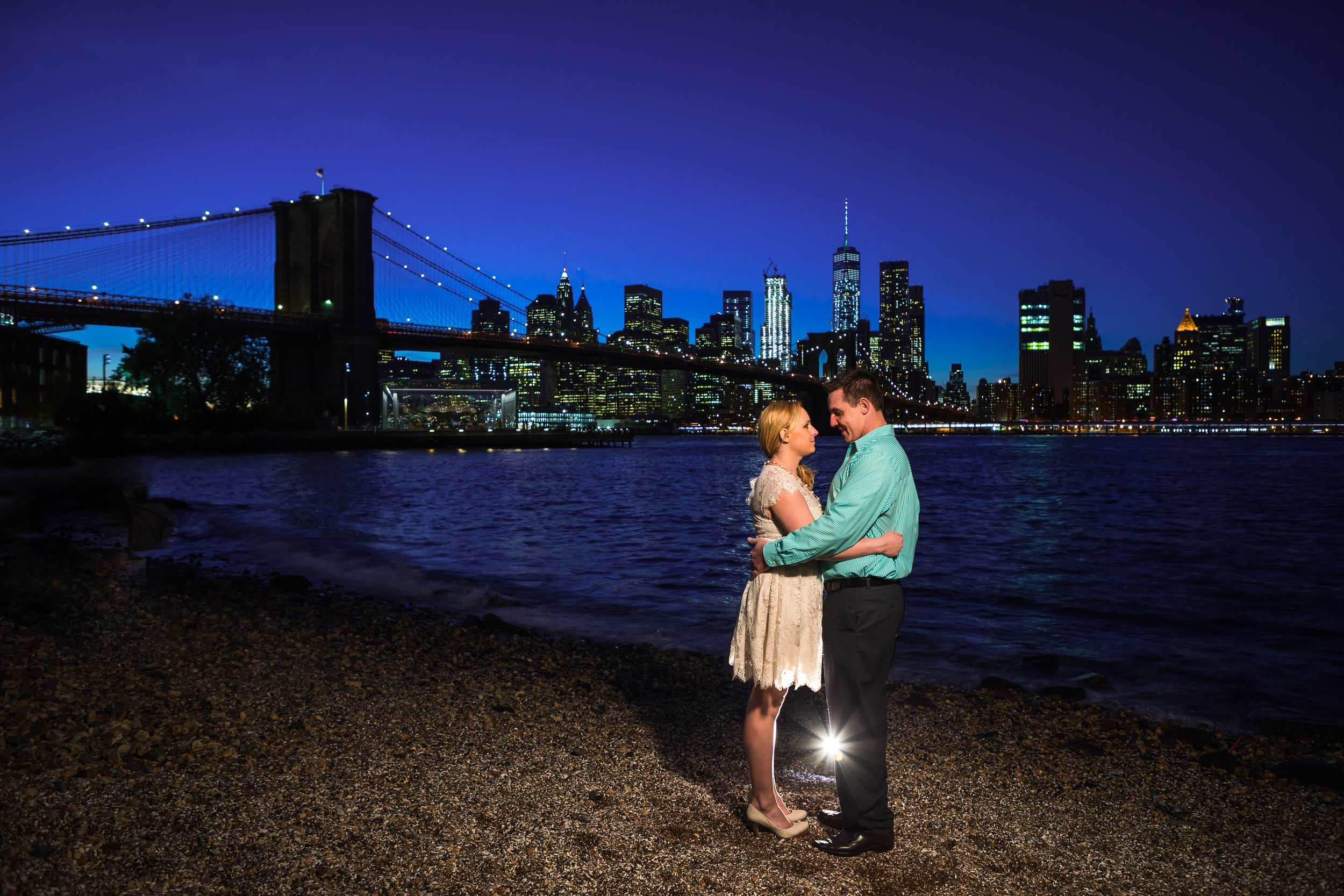 Brooklyn Bridge Engagement Photographer in DUMBO