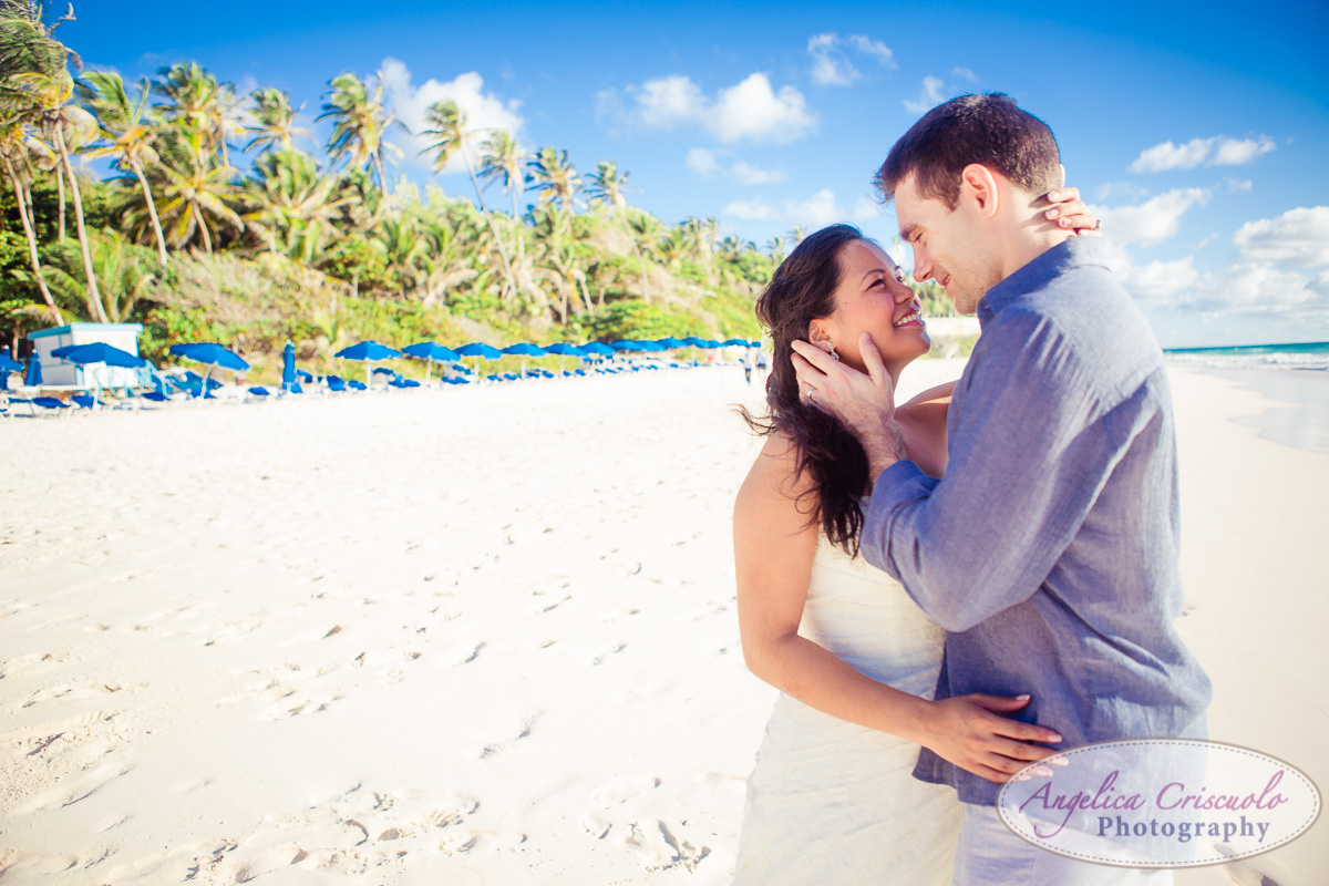 romantic beach wedding pictures trash the dress photo KristyPhilBarbadosWEB-1081