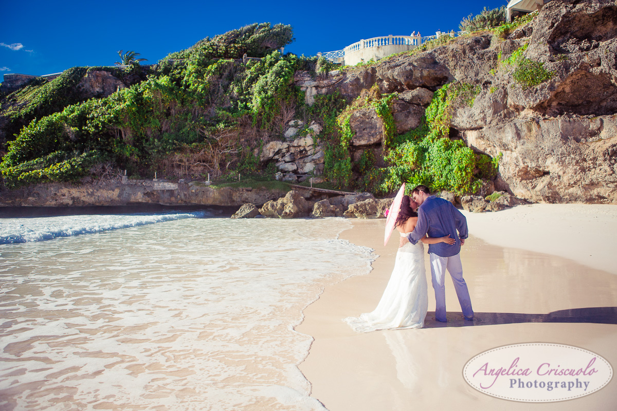 Wedding photo on beach destination wedding Barbados KristyPhilBarbadosWEB-1096