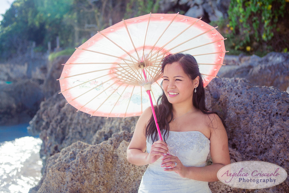 Parasol wedding photo ideas on the beach KristyPhilBarbadosWEB-1100