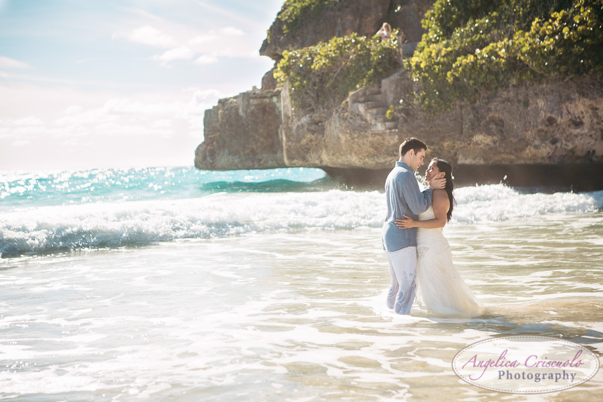 Romantic wedding bride groom photos on beach destination wedding barbados KristyPhilBarbadosWEB-1156