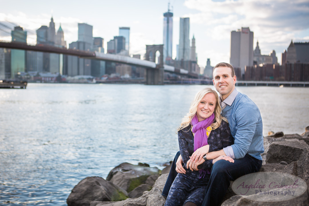NYC Engagement Photo DumboBrooklyn Bridge Park Photographer