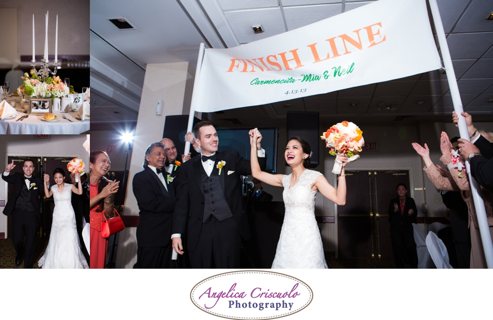 NYC Wedding Photography in Queens NY Jamaica Estates Finish Line entrance