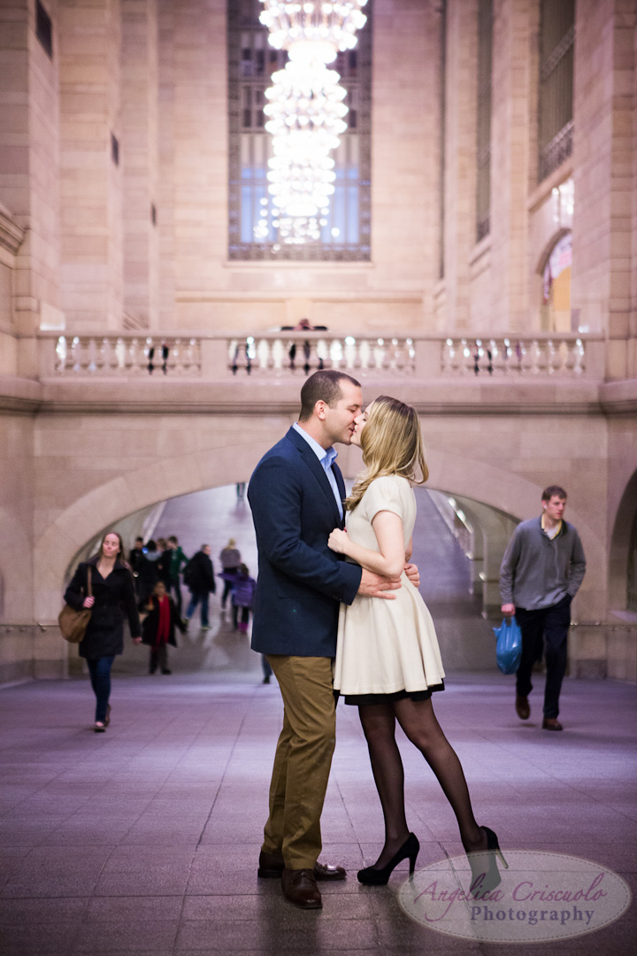 NYC Wedding Engagement Photography Unique Ideas New York Grand Central Tunnel2 Buffalo Wedding Mollie Riester Brian Young
