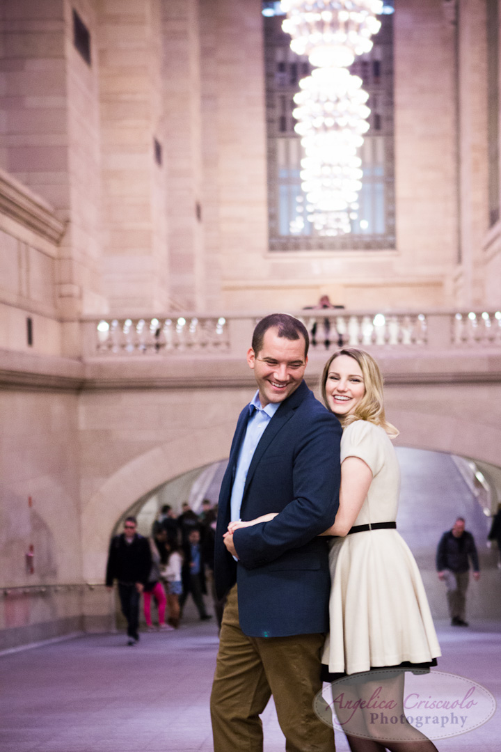 NYC Wedding Engagement Photography Unique Ideas New York Grand Central Tunnel Buffalo Wedding Mollie Riester Brian Young