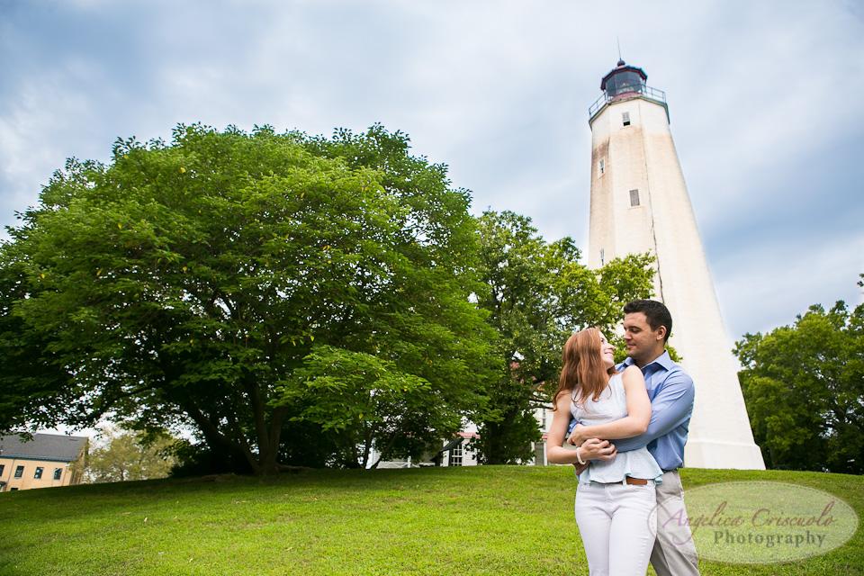 NJ Wedding Photographer Fort Hancock Engagement Ideas Picnic