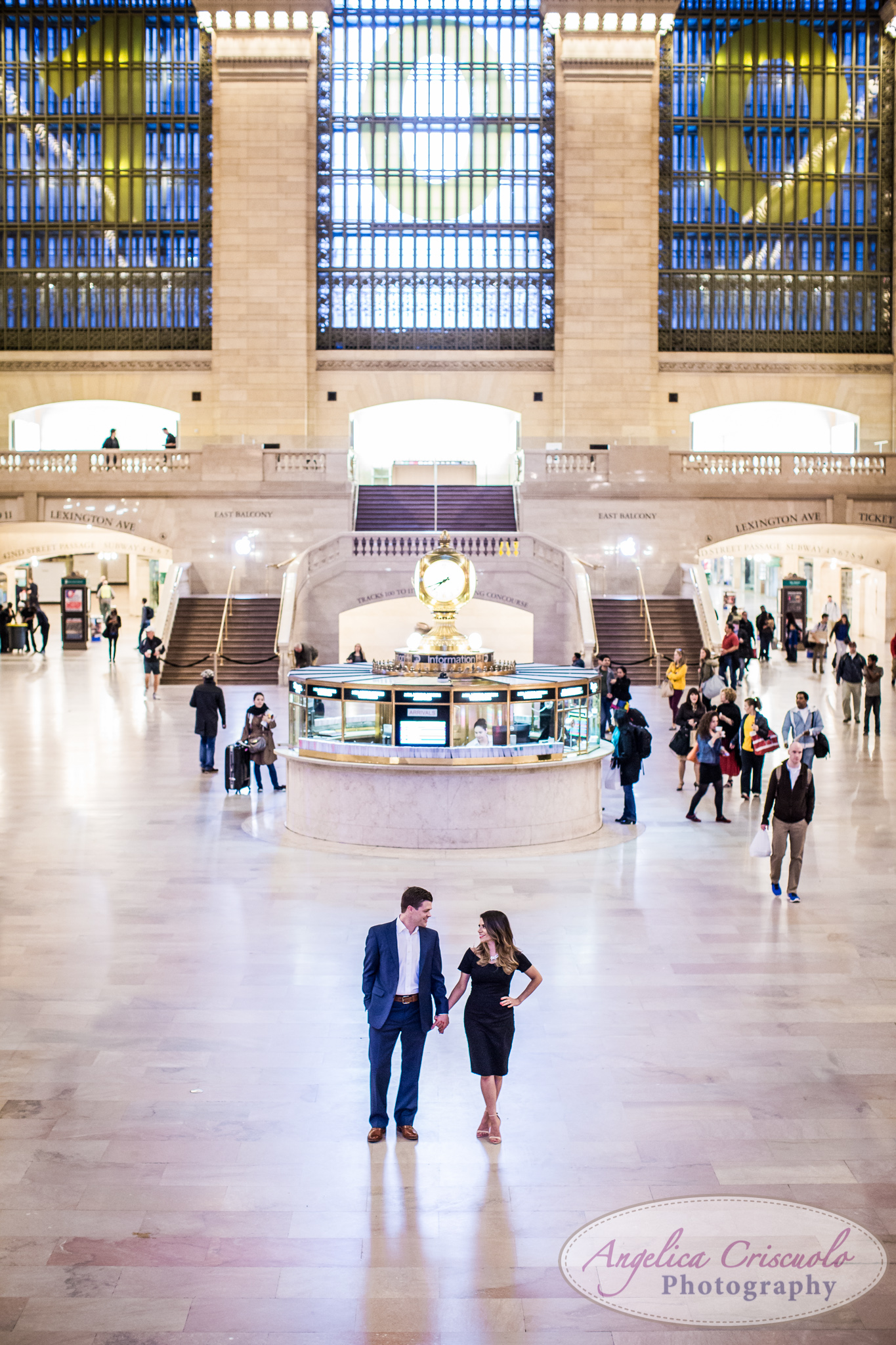 NYC Engagement Photos Grand Central Terminal Station