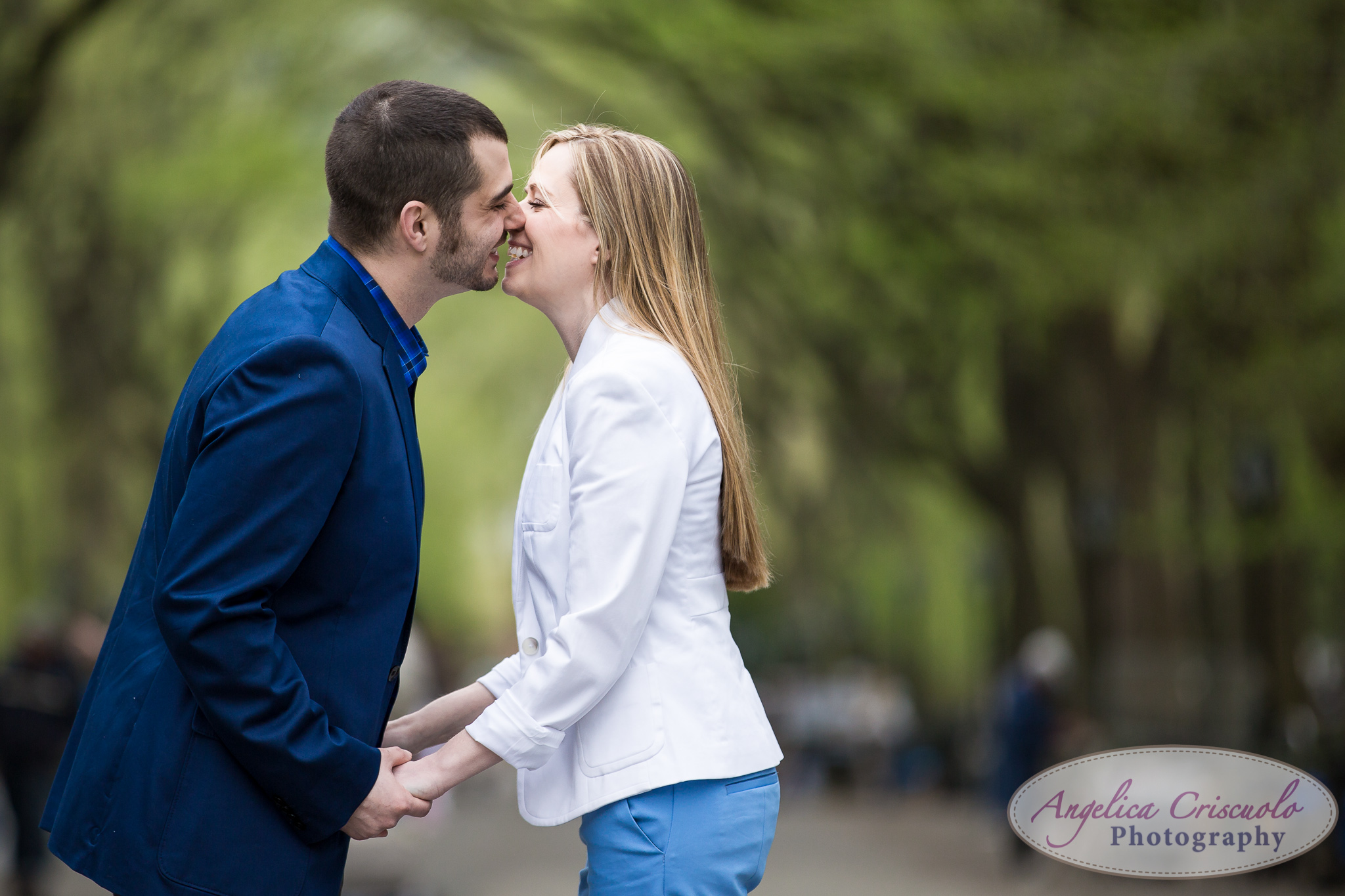 engagement session in central park The Mall