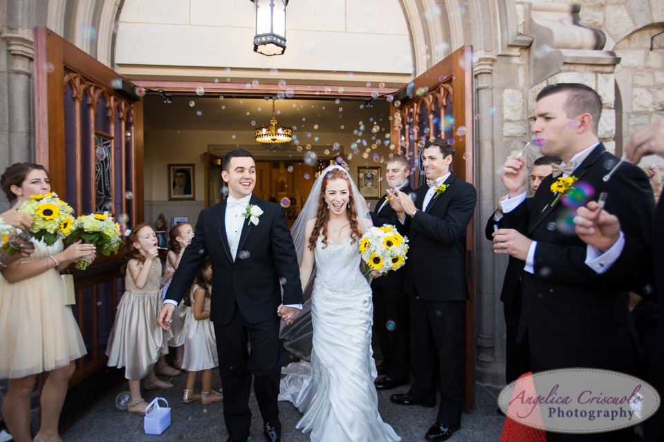 nj wedding photography exit with bubbles