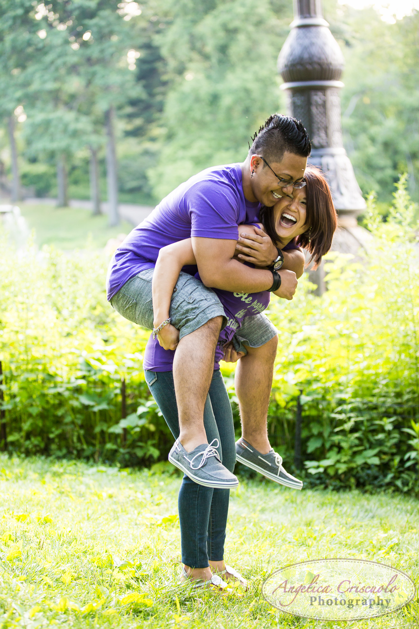 fun engagement photo ideas in central park