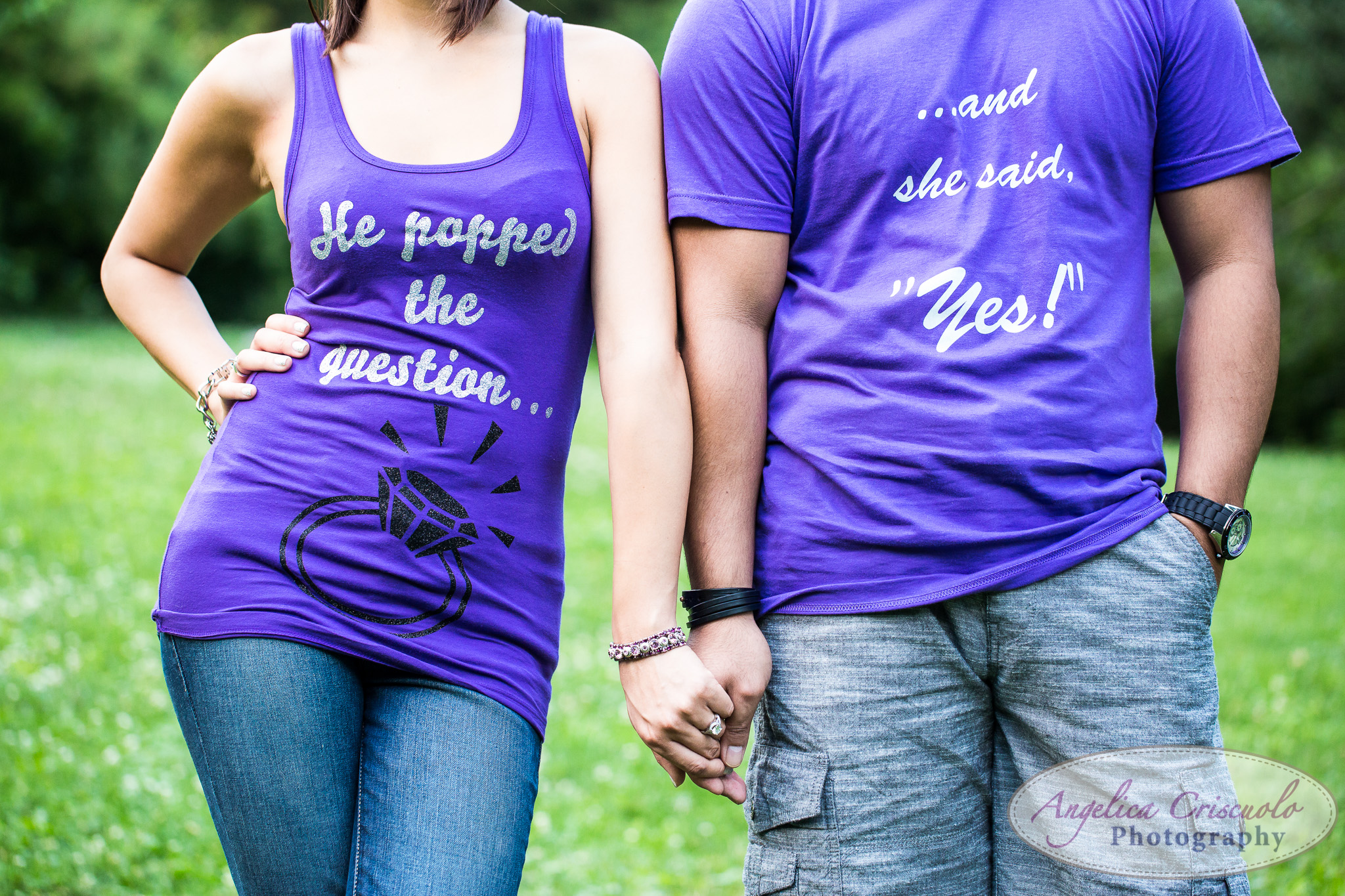 He popped the question and she said yes shirts