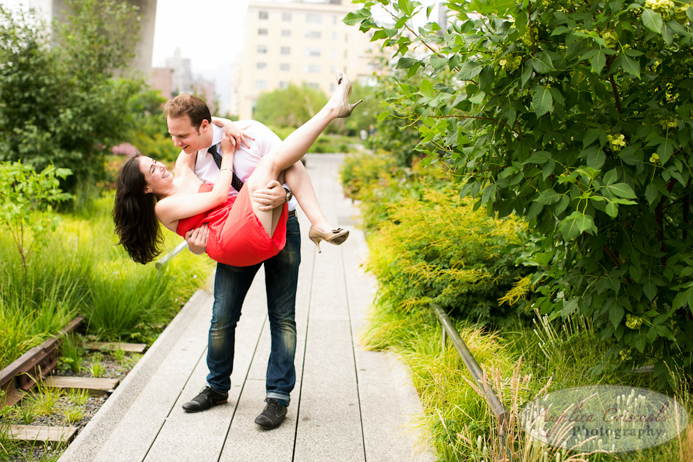 The High Line New York City engagement photo ideas dipped