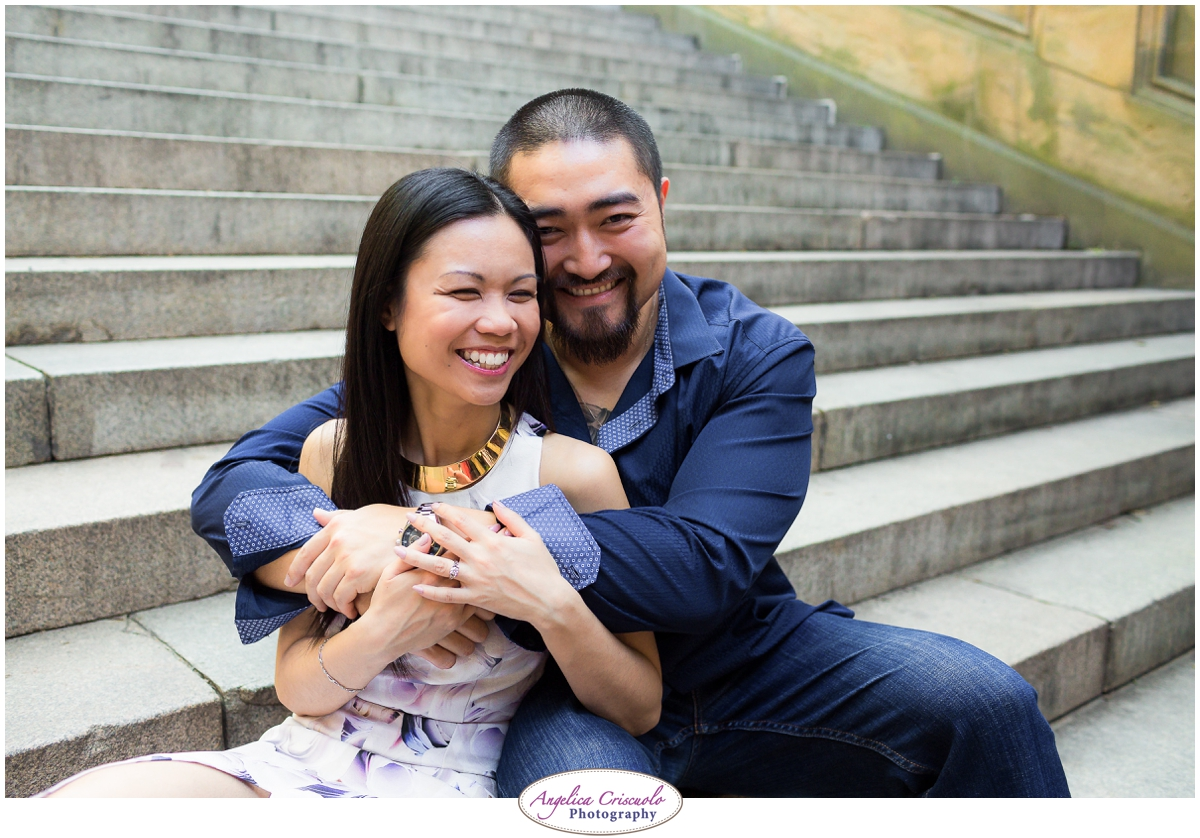 Centra Park Engagement Photographer photo ideas having fun