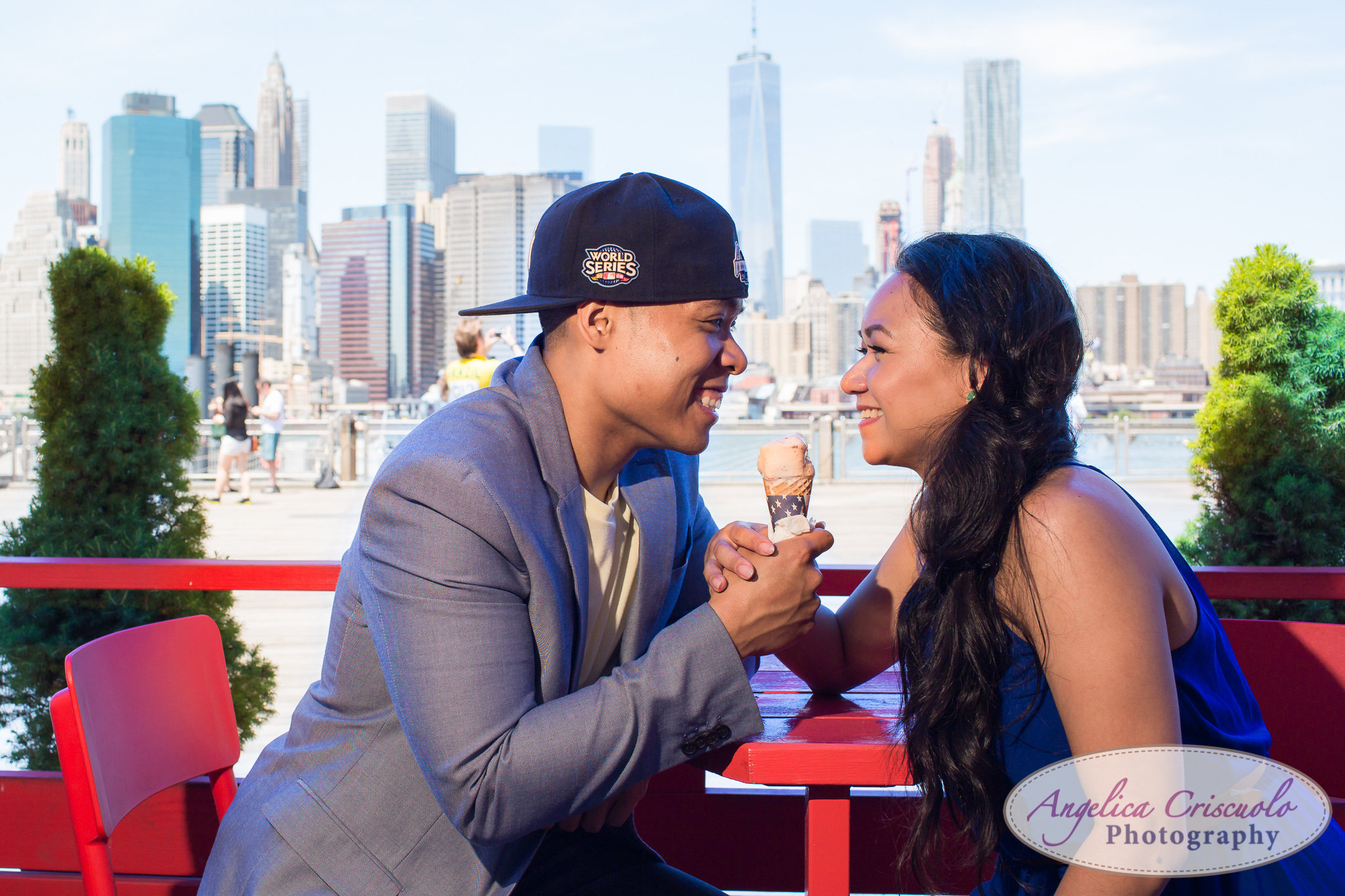 Brooklyn Ice Cream Factory Engagement photos NYC Wedding photographer