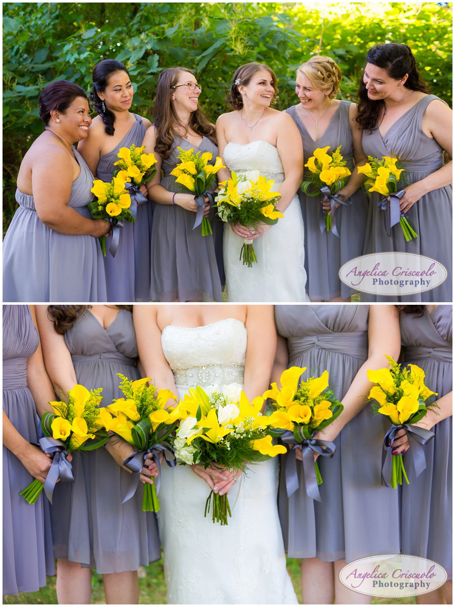 Bridesmaids gray dresses Wedding photo ideas