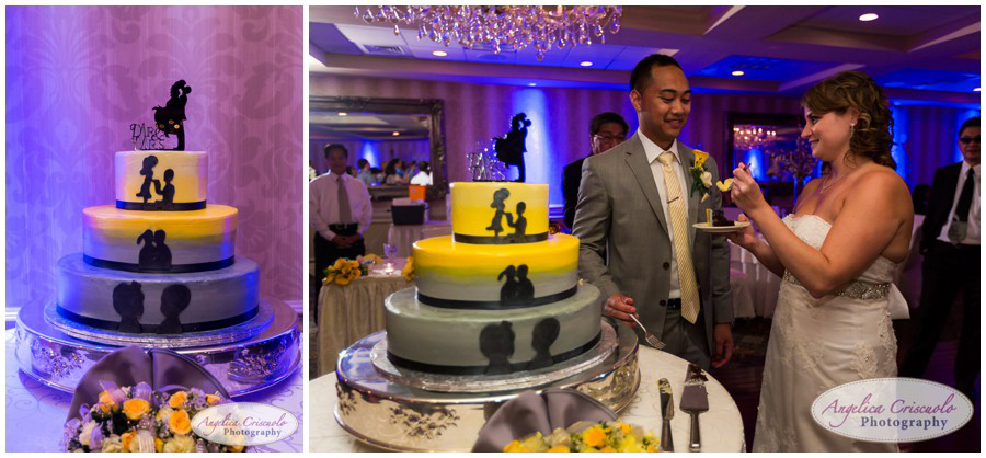 Cake Cutting Sterling Ballroom Wedding photographer
